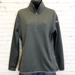 Nike golf charcoal gray 1/4 zip pullover large